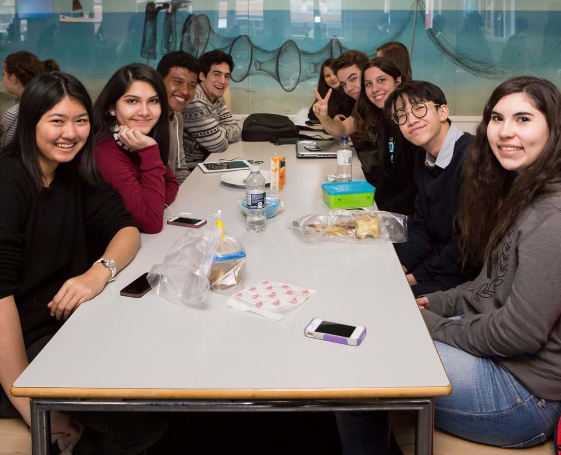 Elever fra en af Nykøbing Katedralskoles venskabsskoler