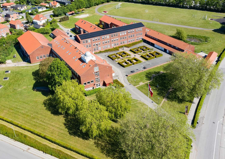 Nykøbing Katedralskole set fra luften