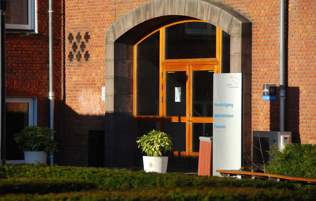 Hovedindgangen til Nykøbing Katedralskole